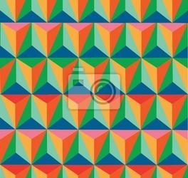 Fototapeta trendy retro hipster geometryczny wzór bez szwu.