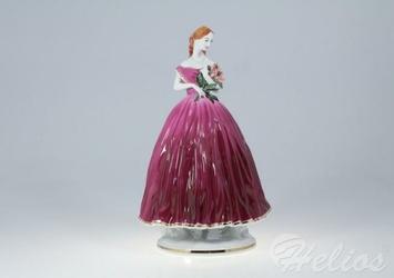 Figurka porcelanowa - MARKIZA w bordowej sukni 0060