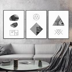 Zestaw trzech plakatów - abstract marble , wymiary - 40cm x 50cm 3 sztuki, kolor ramki - biały
