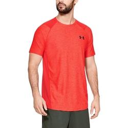 Koszulka męska under armour raid 2.0 ss left chest - czerwony