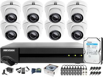 Zestaw monitoringu po utp skrętce 4mpx hwd-6108mh-g2 8 x hwt-t140-m 1tb samodzielny montaż
