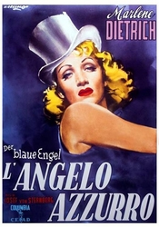 Der blaue engel błękitny anioł, marlene dietrich - plakat