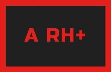 Odznaka na rzep rebelhorn gr. krwi a rh+ blackred