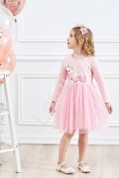Różowa sukienka dla dziewczynki z jednorożcem 197