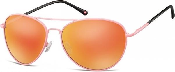 Rozowe aviatory okulary lustrzanki ms95f
