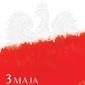 Narodowe święto konstytucji 3 maja - plakat