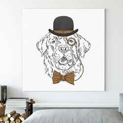 Obraz na płótnie - hrabia labrador , wymiary - 40cm x 40cm