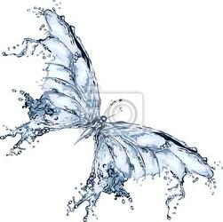 Naklejka water splash motyl 2
