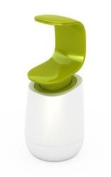 Dozownik do mydła C-Pump biało-zielony