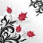 Obraz na płótnie canvas dwuczęściowy dyptyk dekoracyjna kwiecista ilustracja