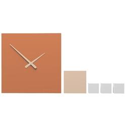 Zegar ścienny do pokoju młodzieżowego kubo calleadesign terakota 10-325-24