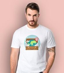 Walizka wolności t-shirt męski biały xl