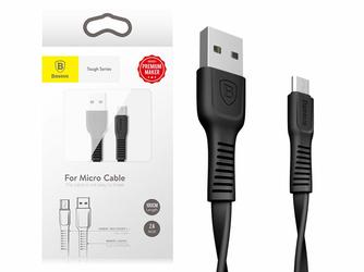 Kabel Baseus micro USB Tough Series 1M 2A płaski czarny - Czarny