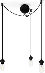 Zawieszenie do lamp z podsufitką cannoball cluster 3 czarne