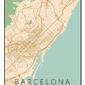 Barcelona mapa kolorowa - plakat wymiar do wyboru: 60x80 cm