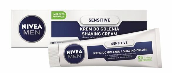 Nivea For Men Sensitive, łagodzący krem do golenia, 100ml