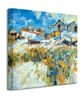 Daisies amongst the pebbles - obraz na płótnie