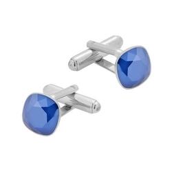 Spinki do mankietów z kryształami swarovski srebro pr. 925 018