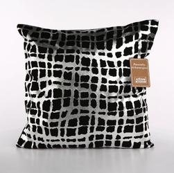 Poszewka na poduszkę dekoracyjna altom design, kolekcja boston, dekoracja srebrne paski 40x40 cm