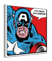 Captain america for truth and justice - obraz na płótnie