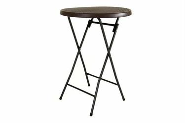 Stół składany barowy, rattanowy