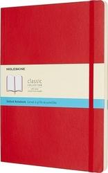 Notes moleskine w miękkiej oprawie kieszonkowy czerwony w kropki