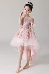 Luksusowa sukienka z trenem na wesele, bal, komunie 6002