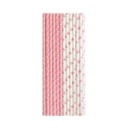 Słomki papierowe j.różowe abelone green gate