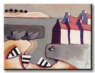 Harbour inlet - obraz na płótnie