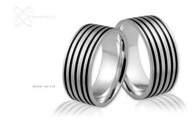 Obrączki srebrne - wzór ag-112