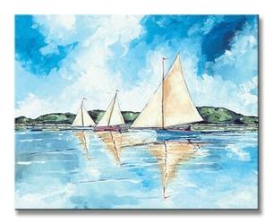 Three boats - obraz na płótnie