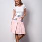 Różowa spódnica z kontrafałdą classic i