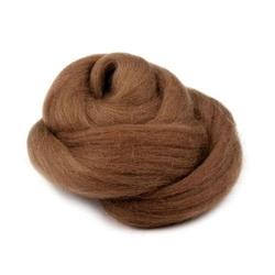 Wełna czesankowa 20g - brązowy - brąz