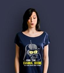 Join the dark side t-shirt damski granatowy xxl