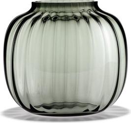 Wazon primula niski 17,5 cm przydymione szkło