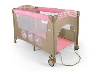 Łóżeczko turystyczne Milly Mally Mirage Pink Toys