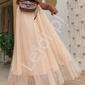 Tiulowa brzoskwiniowa spódnica z perełkami 340