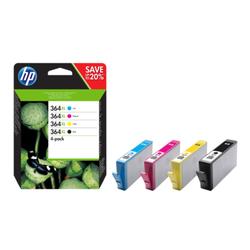 Zestaw 4 oryginalnych wkładów atramentowych HP 364XL, czarnybłękitnypurpurowyżółty XL