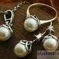 Ofelia - srebrny komplet z perłami