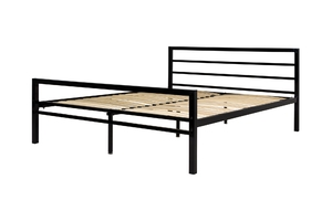Łóżko metalowe Eveline 160x200 czarne