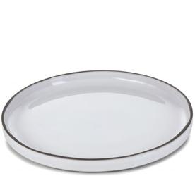 Talerz deserowy, płaski z rantem 21 cm caractere revol biały rv-652798-4