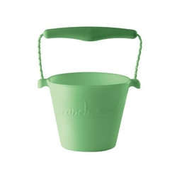 Zwijane wiaderko silikonowe scrunch bucket - zielone