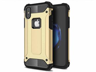Etui Pancerne Alogy Apple iPhone X Xs Hard Armor Złote + Szkło - Złoty