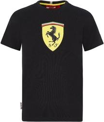 Koszulka dziecięca scuderia ferrari f1 czarna - czarny