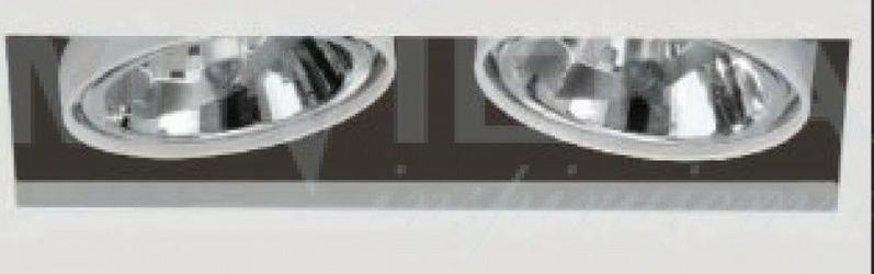 T-710 oczko 2x100w ar111 g53 biały