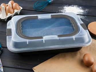 Forma  blacha do pieczenia ciasta z powłoką nieprzywierającą altom design z plastikową pokrywą i uchwytem 36,3 x 24,5 x 5,5 cm