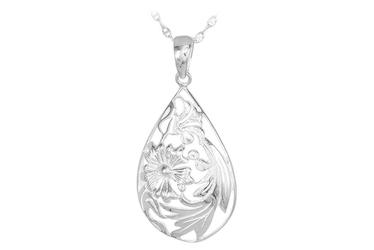 Srebrny wisiorek z motywem kwiatów