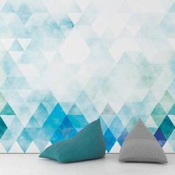 Blue sunrise - tapeta ścienna , rodzaj - tapeta flizelinowa