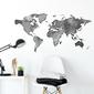 Naklejka na ścianę - shadow world map , wymiary naklejki - szer. 120cm x wys. 60cm