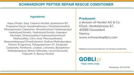 Schwarzkopf bc repair rescue, odżywka intensywnie regenerująca 1000ml